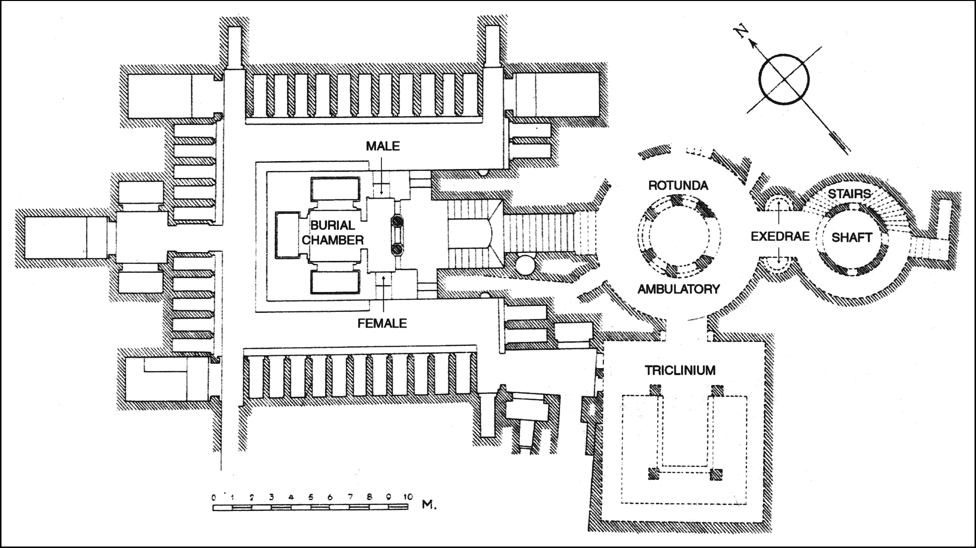 Catacombs of Kom El Shoqafa map