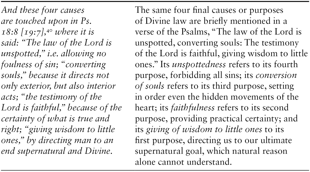 St  Thomas's Prologue to Question 91: Of the Various Kinds