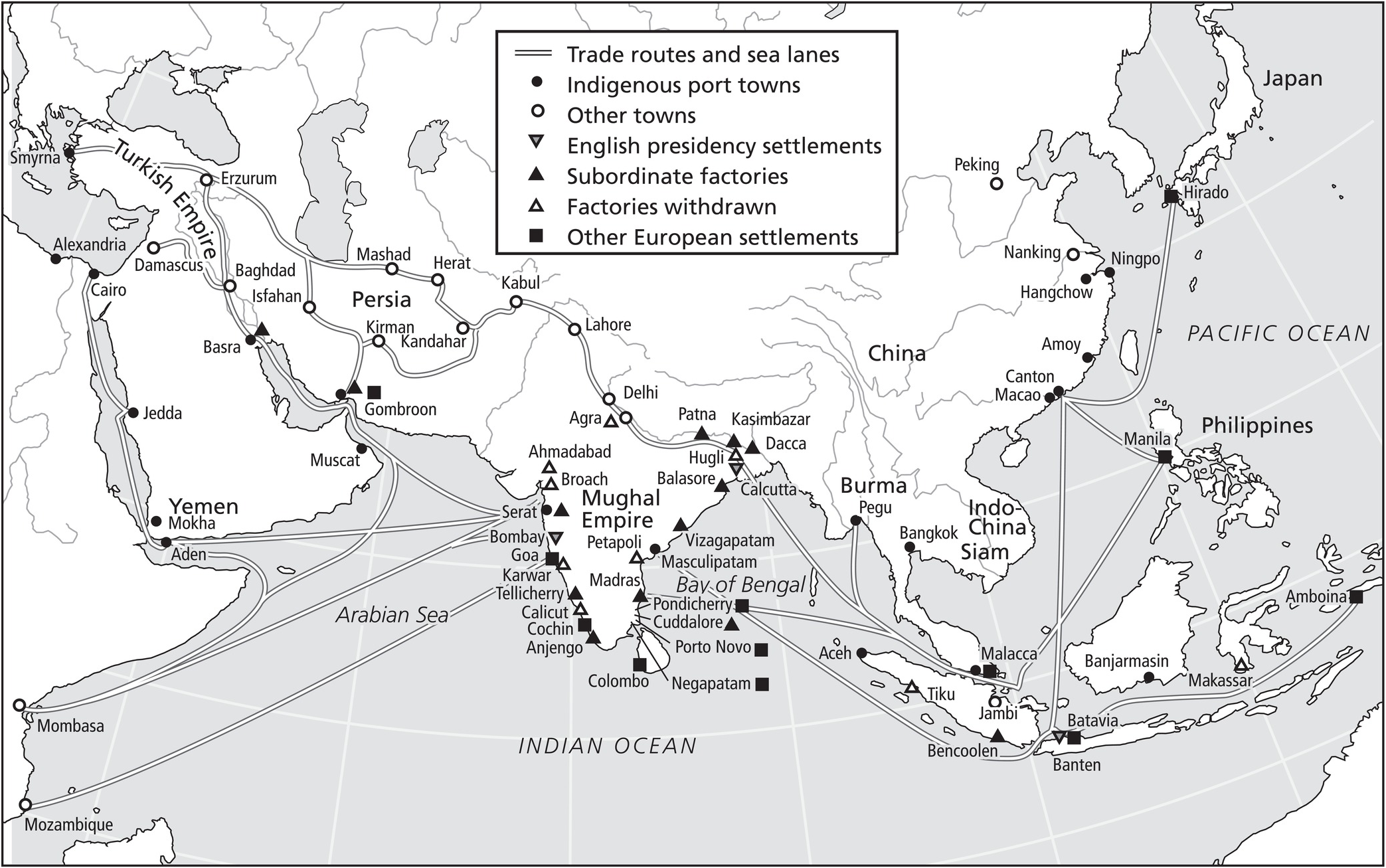 Dutch and English trade to the East: the Indian Ocean and