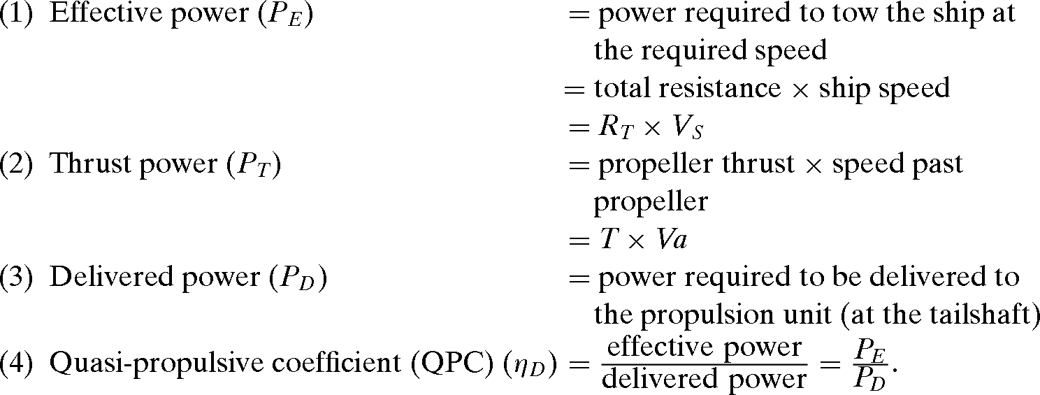 Propulsive Power Chapter 2 Ship Resistance And Propulsion