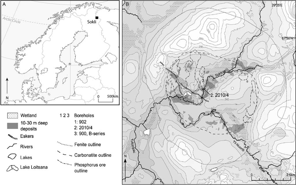 New insights from XRF core scanning data into boreal lake