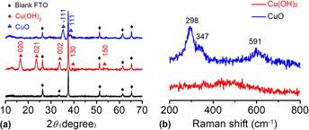 Preparation of nanostructured Cu(OH)2 and CuO