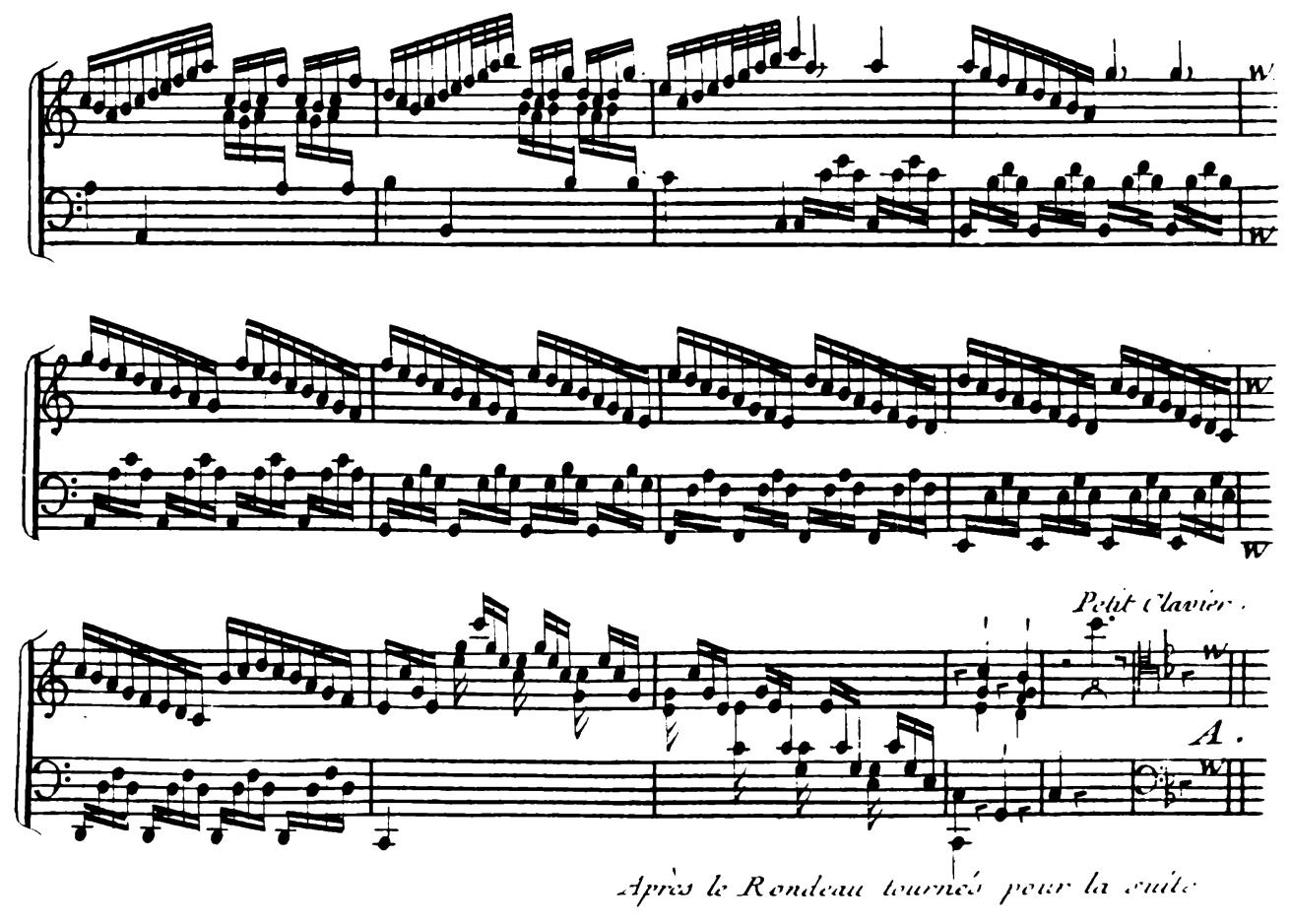 Harpsichord Pieces, Book 4, Suite 20, No.8:  Les Tambourins 1. Rondeau