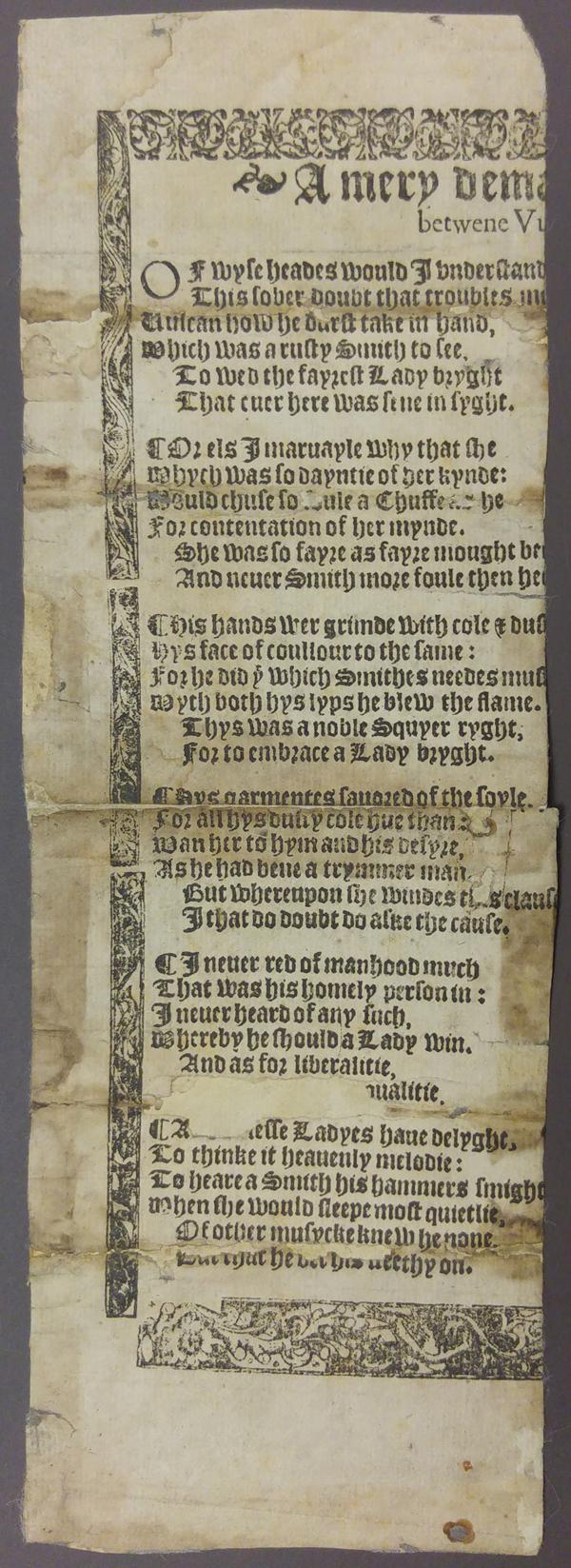 Translating Ovid's Metamorphoses in Tudor Balladry