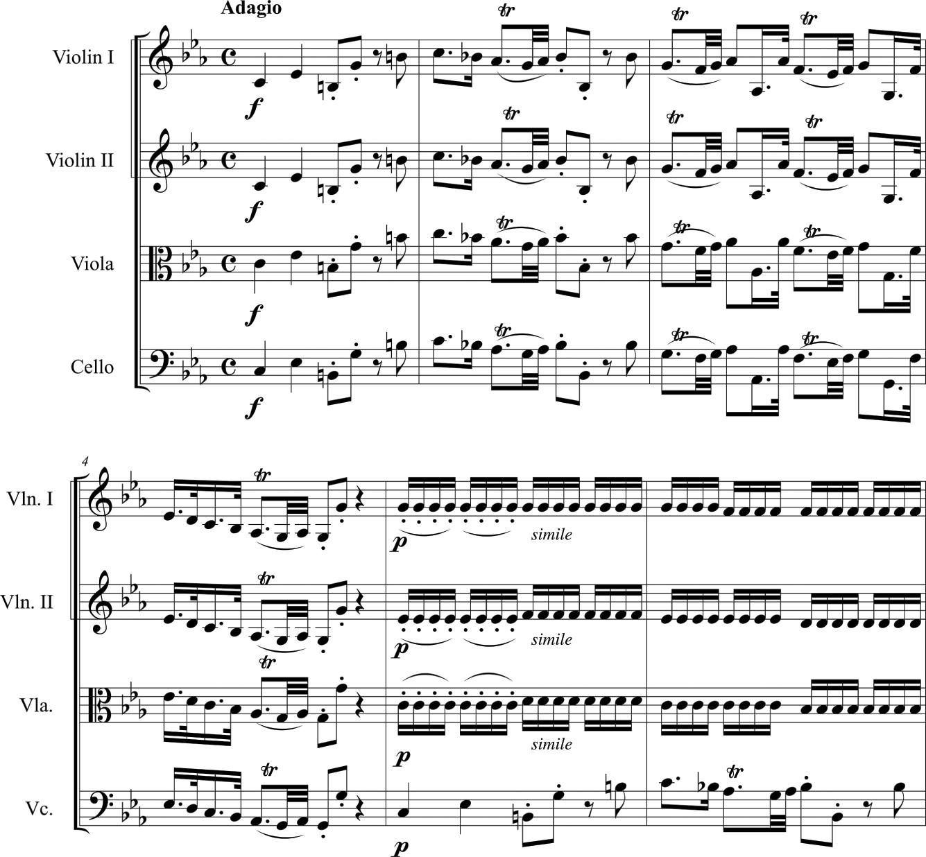 Six Duets Volume 2 8 Barthelemon Duets 3 /& 4 for Violin /& Viola  op