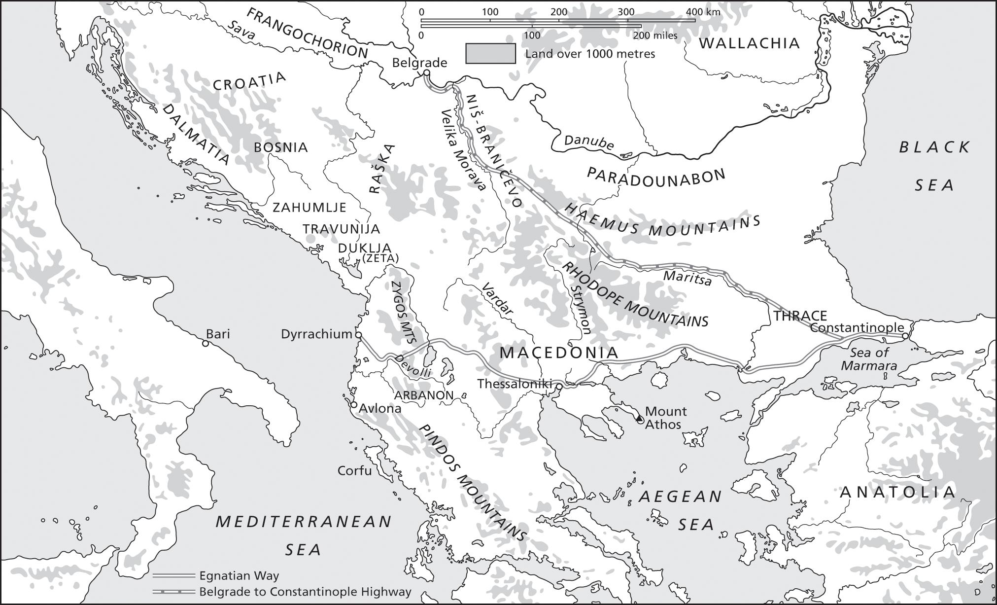 Balkan Borderlands 1018 1204 Chapter 18 The Cambridge History Of The Byzantine Empire C 500 1492