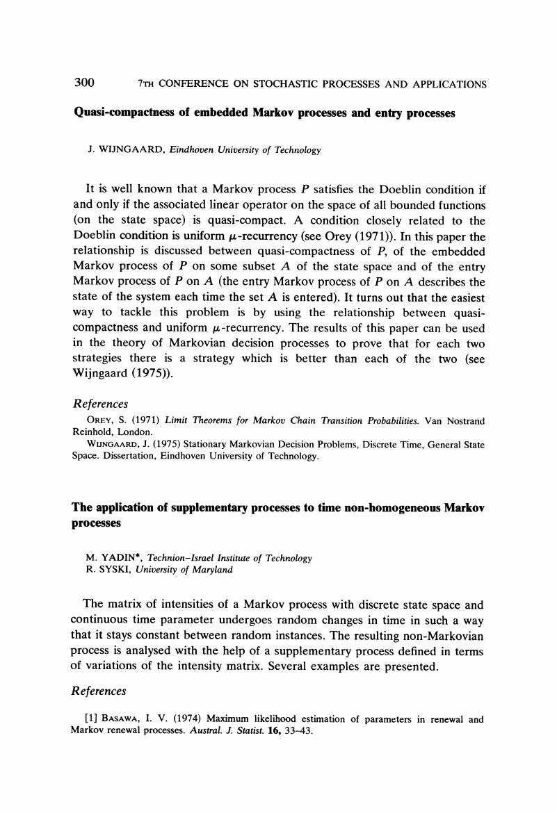 The application of supplementary processes to time non
