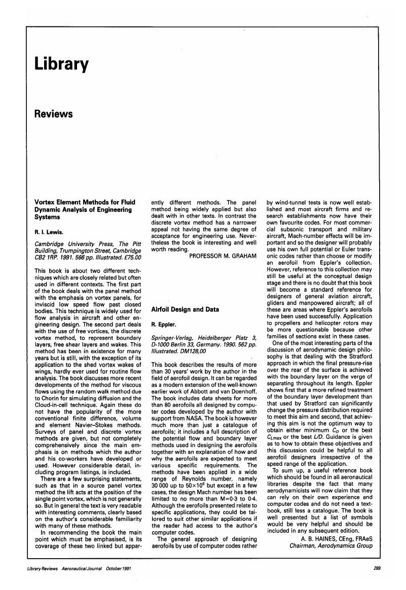 Airfoil Design and Data  R  Eppler  Springer-Verlag