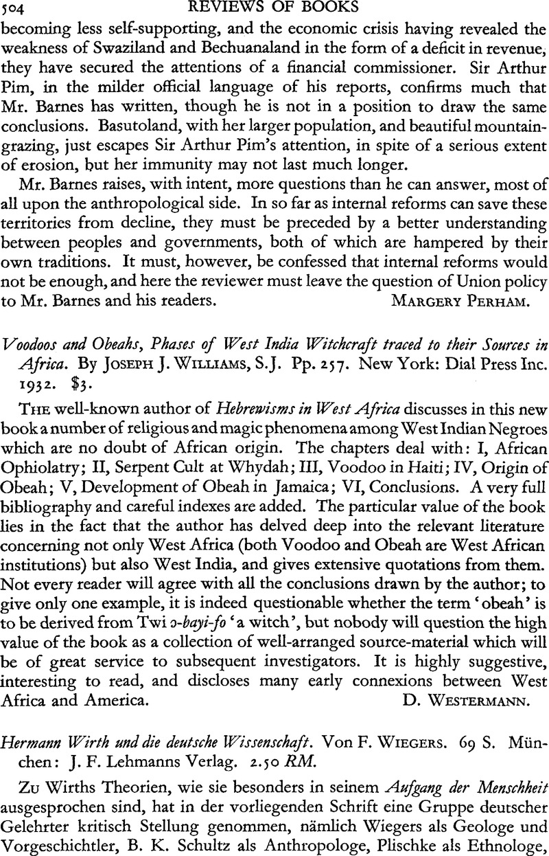 Voodoos and Obeahs, Phases of West India Witchcraft traced to their
