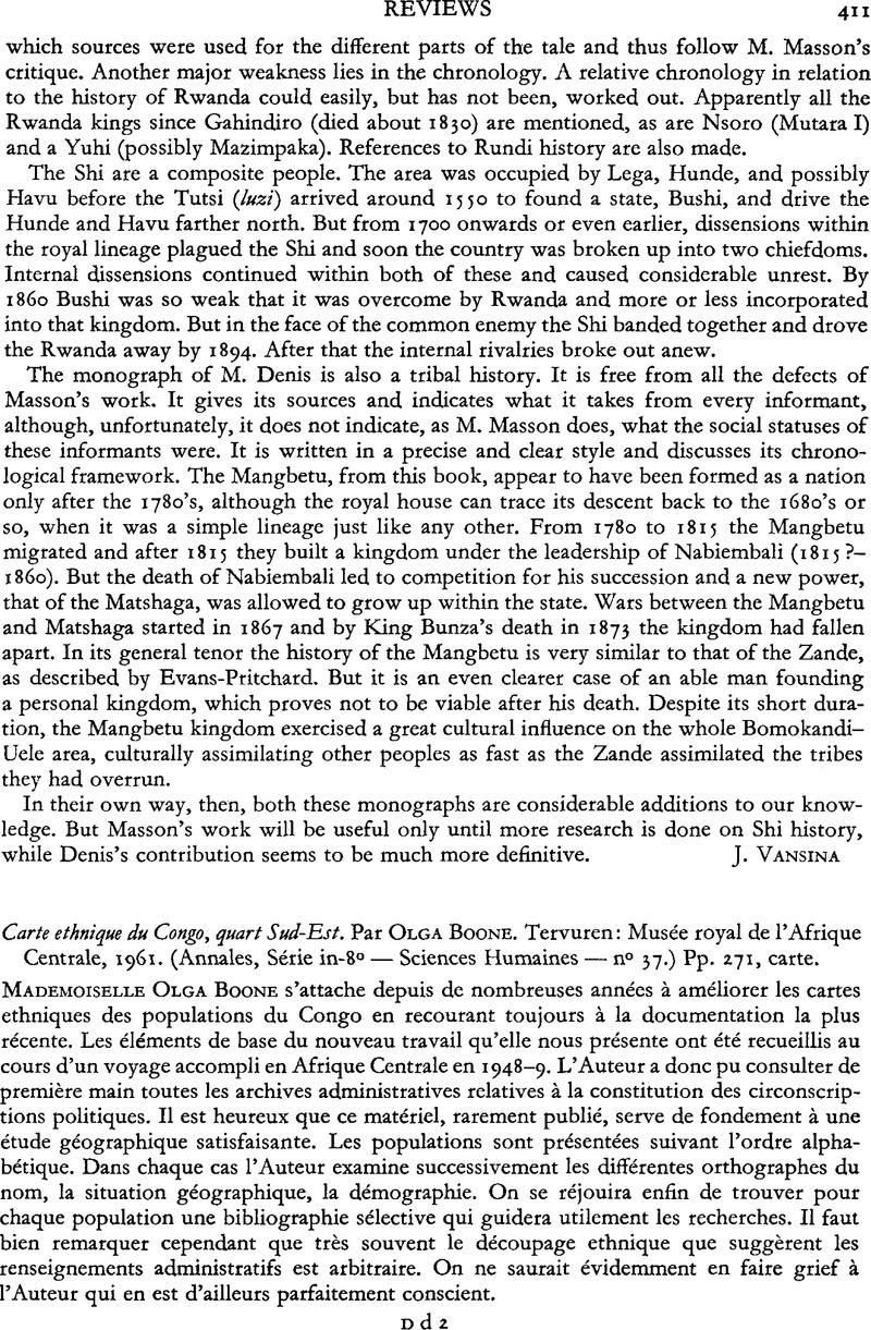 Carte De Lafrique Centrale Pdf.Carte Ethnique Du Congo Quart Sud Est Par Olga Boone