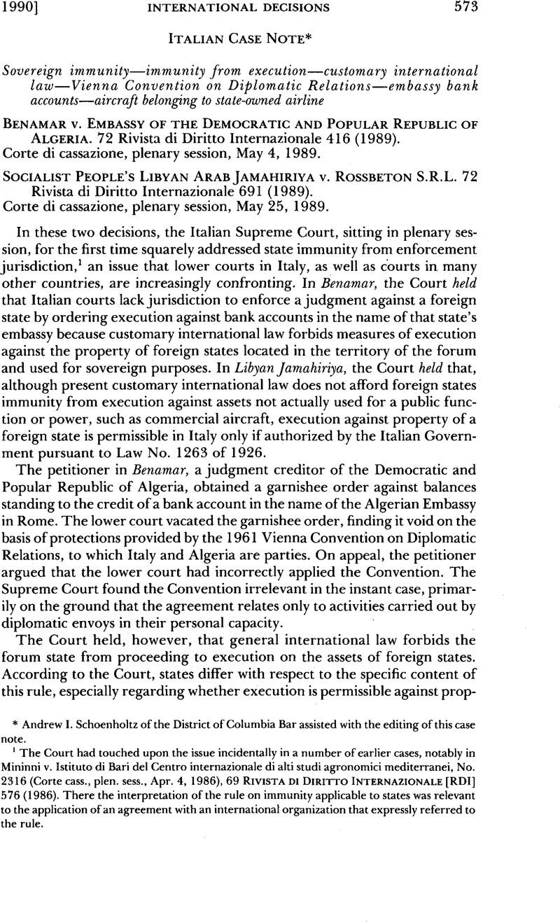 Sovereign Immunityimmunity From Executioncustomary International
