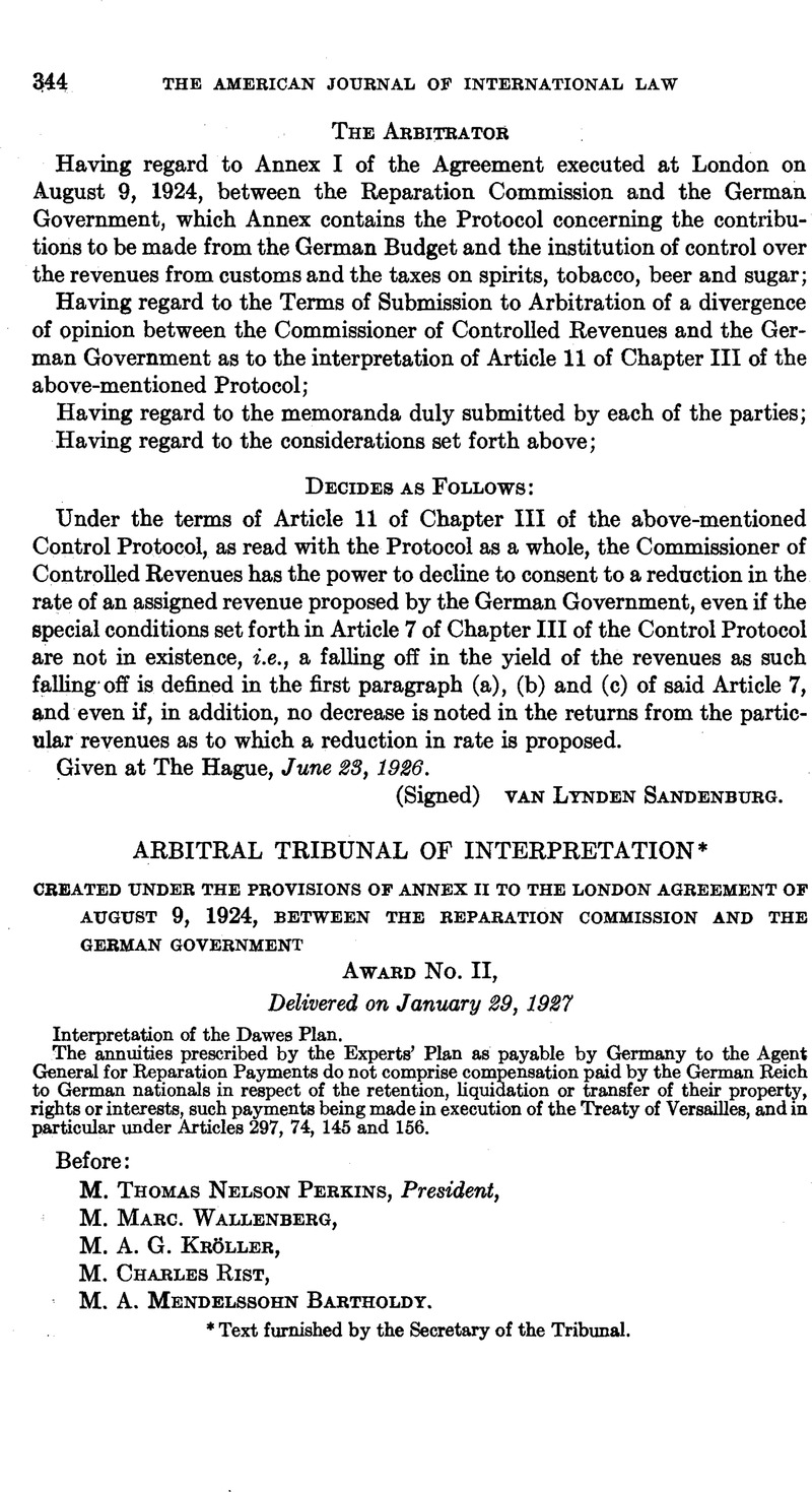 Created Under The Provisions Of Annex Ii To The London Agreement Of