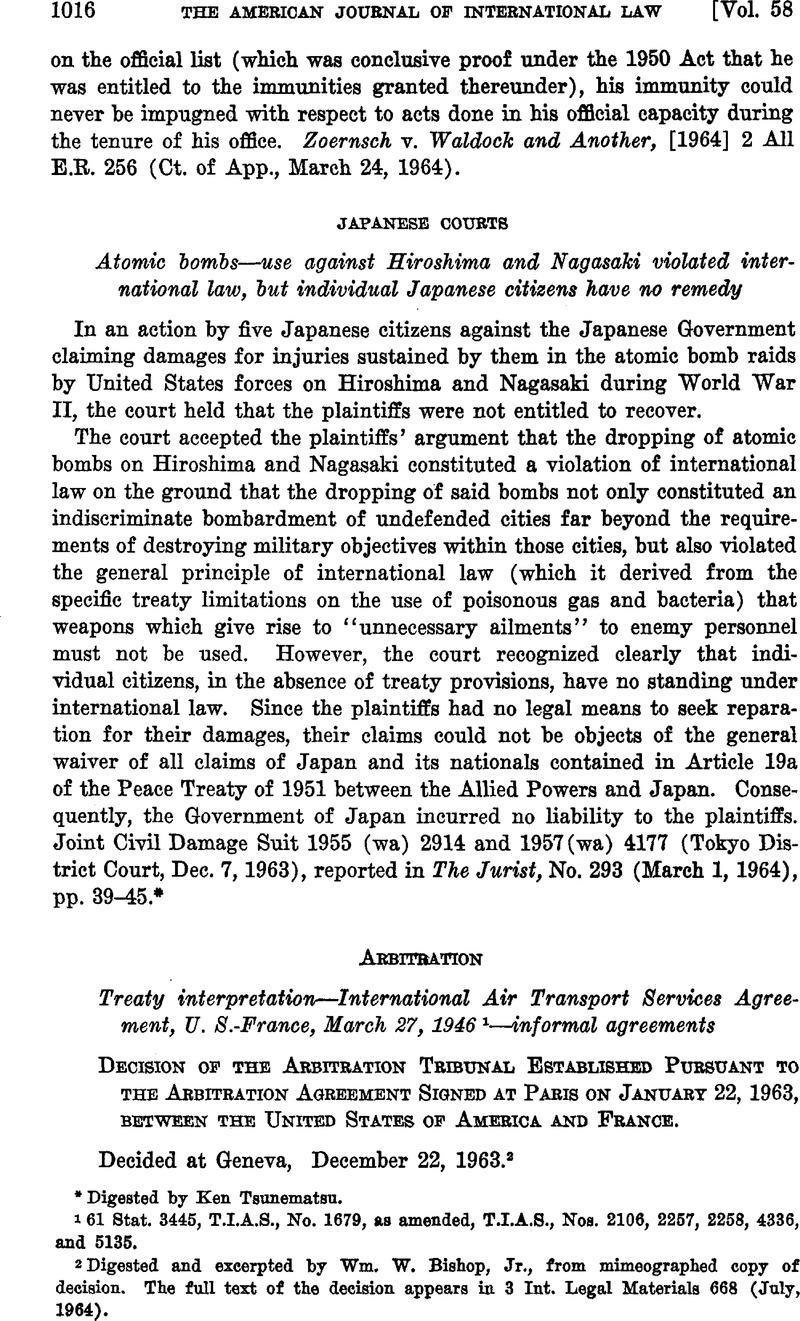 Arbitration | American Journal of International Law
