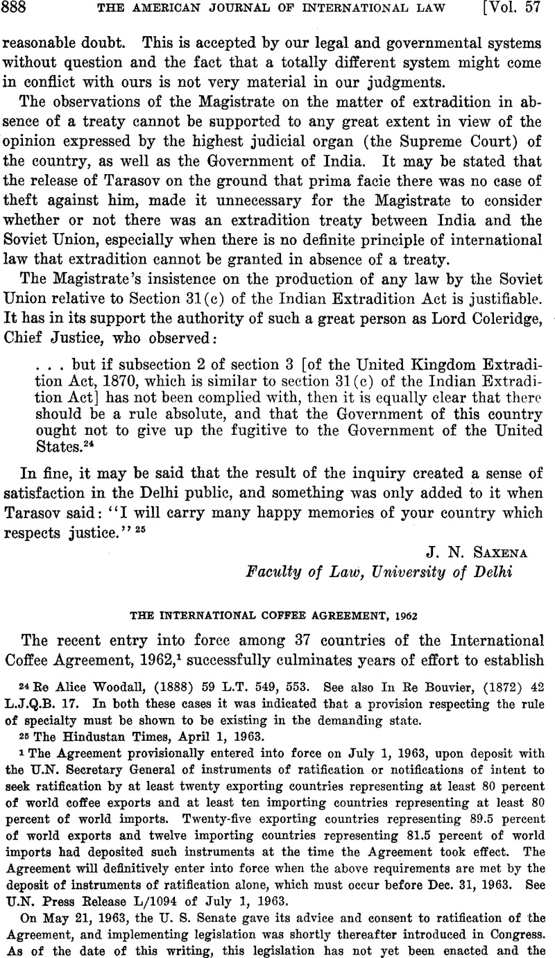 The International Coffee Agreement 1962 American Journal Of