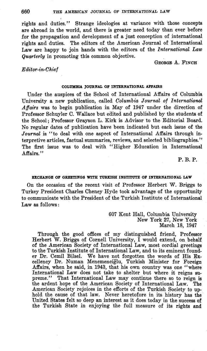 Columbia Journal Of International Affairs American Journal Of
