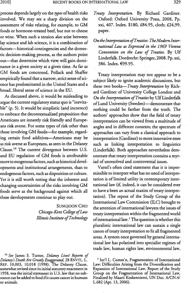 Treaty Interpretation By Richard Gardiner Oxford