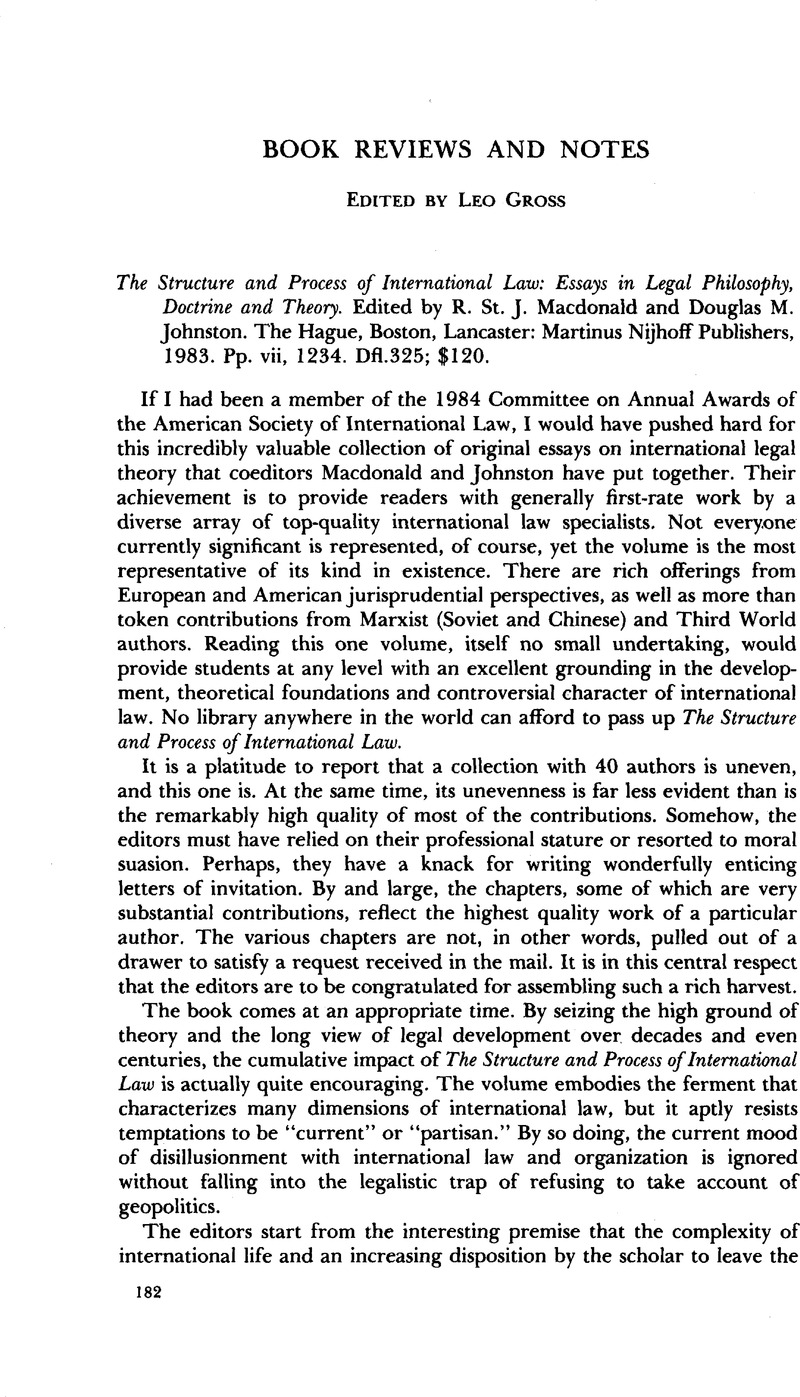 Example Of Thesis Statement For Argumentative Essay The Structure And Process Of International Law Essays In Legal Philosophy  Doctrine And Theory Edited By R St J Macdonald And Douglas M Johnston Science And Religion Essay also High School Entrance Essay Samples The Structure And Process Of International Law Essays In Legal  Essay On Healthy Living