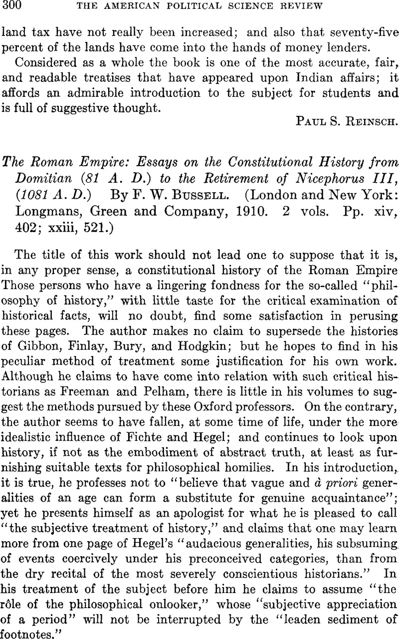 The Roman Empire Essays On The Constitutional History From Domitian  The Roman Empire Essays On The Constitutional History From Domitian  A  D To The Retirement Of Nicephorus Iii  A D By F W Bussell
