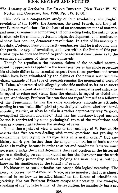 The Anatomy of Revolution. By Crane Brinton. (New York: W. W. Norton ...