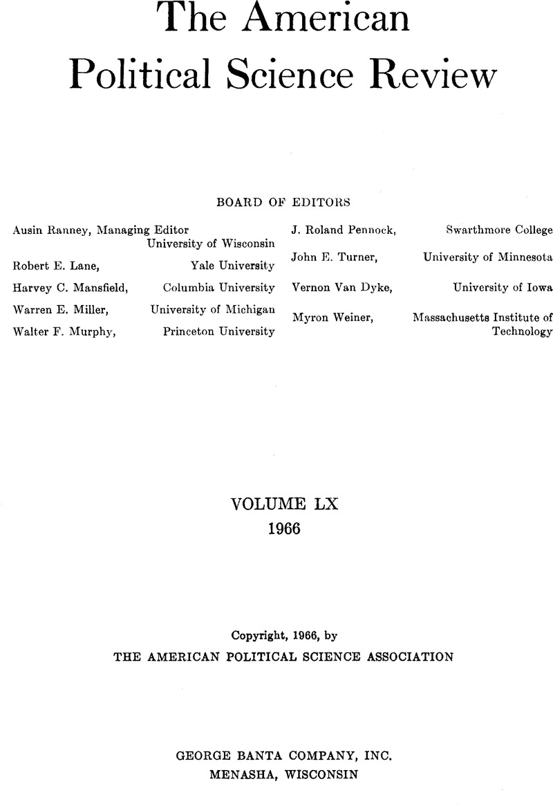 PSR volume 60 issue 4 Cover and Back matter | American Political