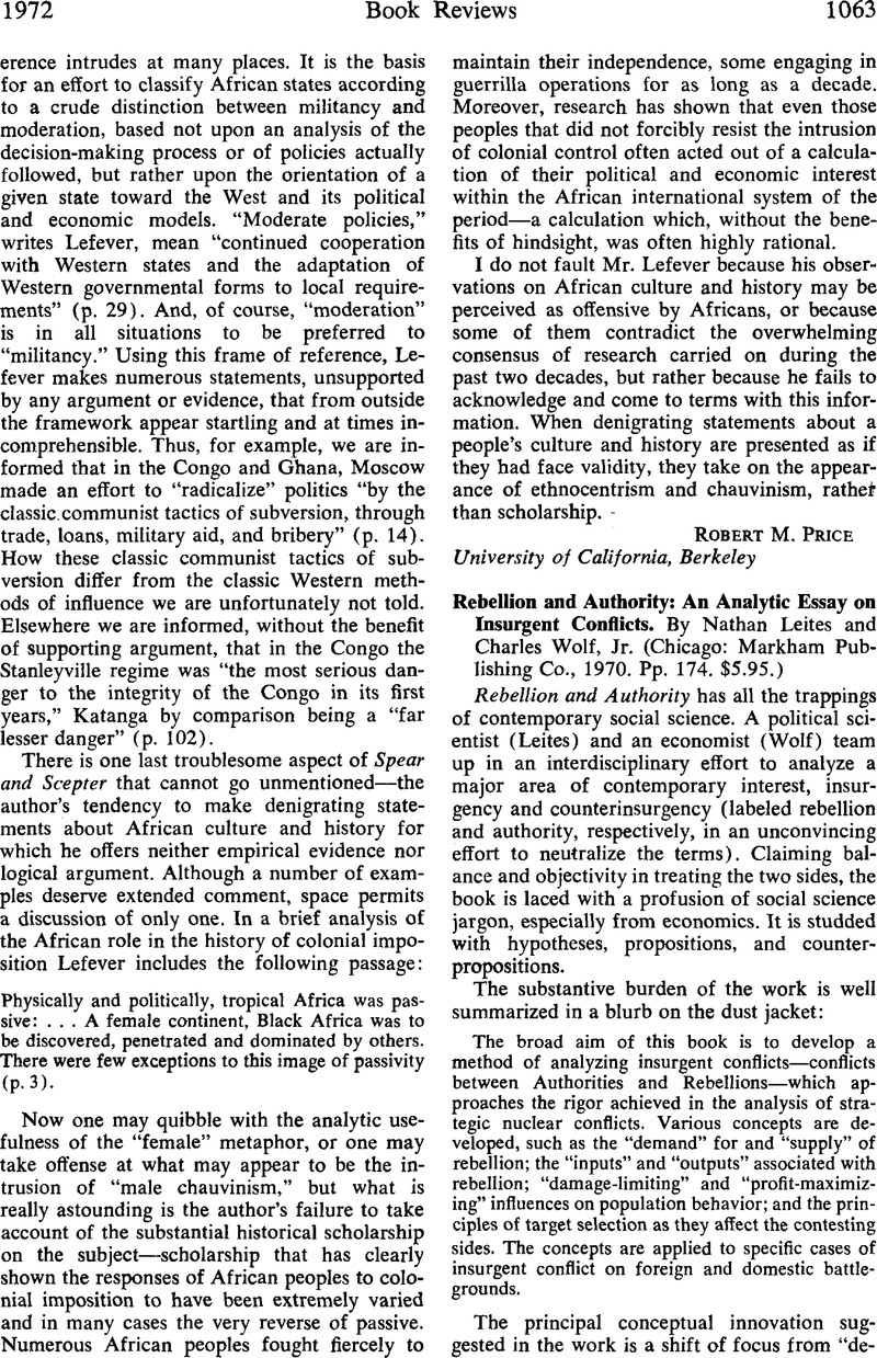 The Yellow Wallpaper Essay Topics Rebellion And Authority An Analytic Essay On Insurgent Conflicts By  Nathan Leites And Charles Wolfjr Chicago Markham Publishing Co   Pp  Top English Essays also Essay On Good Health Rebellion And Authority An Analytic Essay On Insurgent Conflicts  High School Reflective Essay Examples