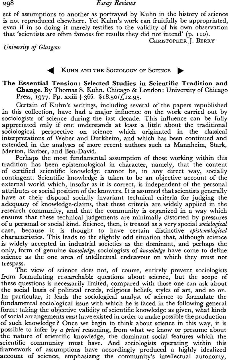 sociology observation paper