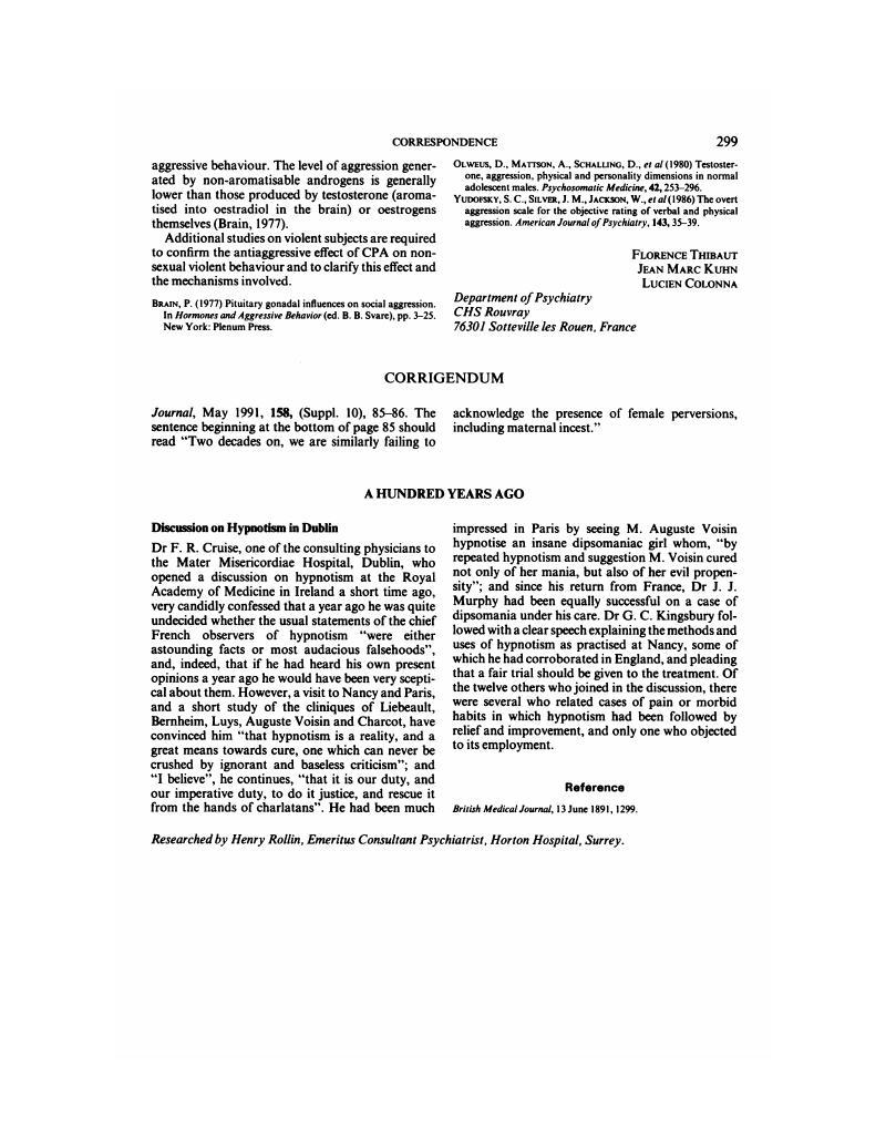 CORRIGENDUM   The British Journal of Psychiatry   Cambridge Core