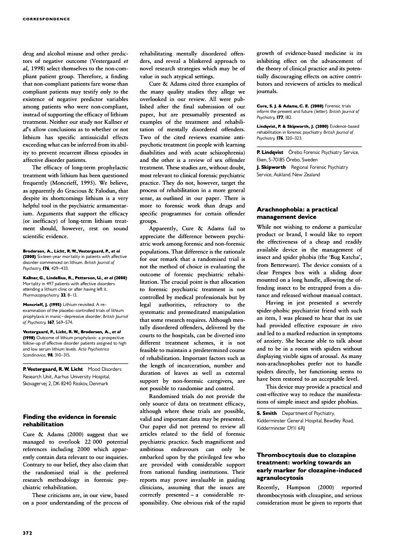 Finding The Evidence In Forensic Rehabilitation The British Journal Of Psychiatry Cambridge Core