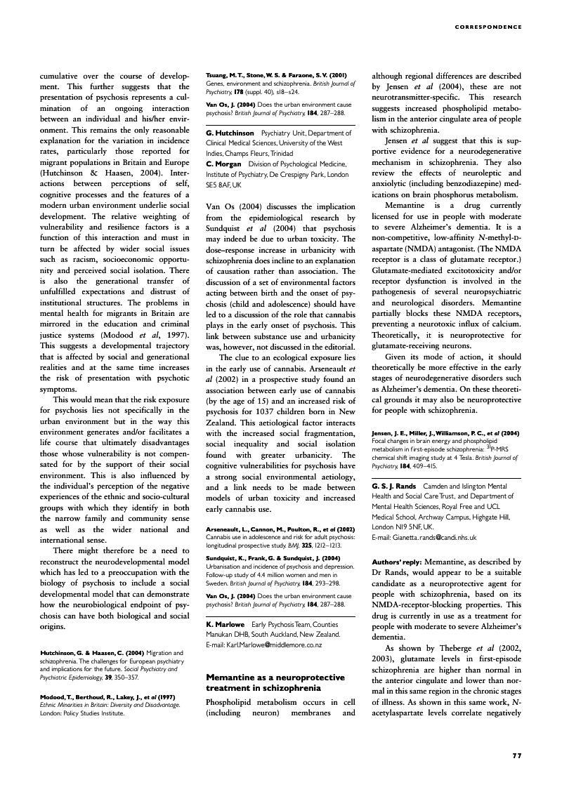 Memantine as a neuroprotective treatment in schizophrenia | The