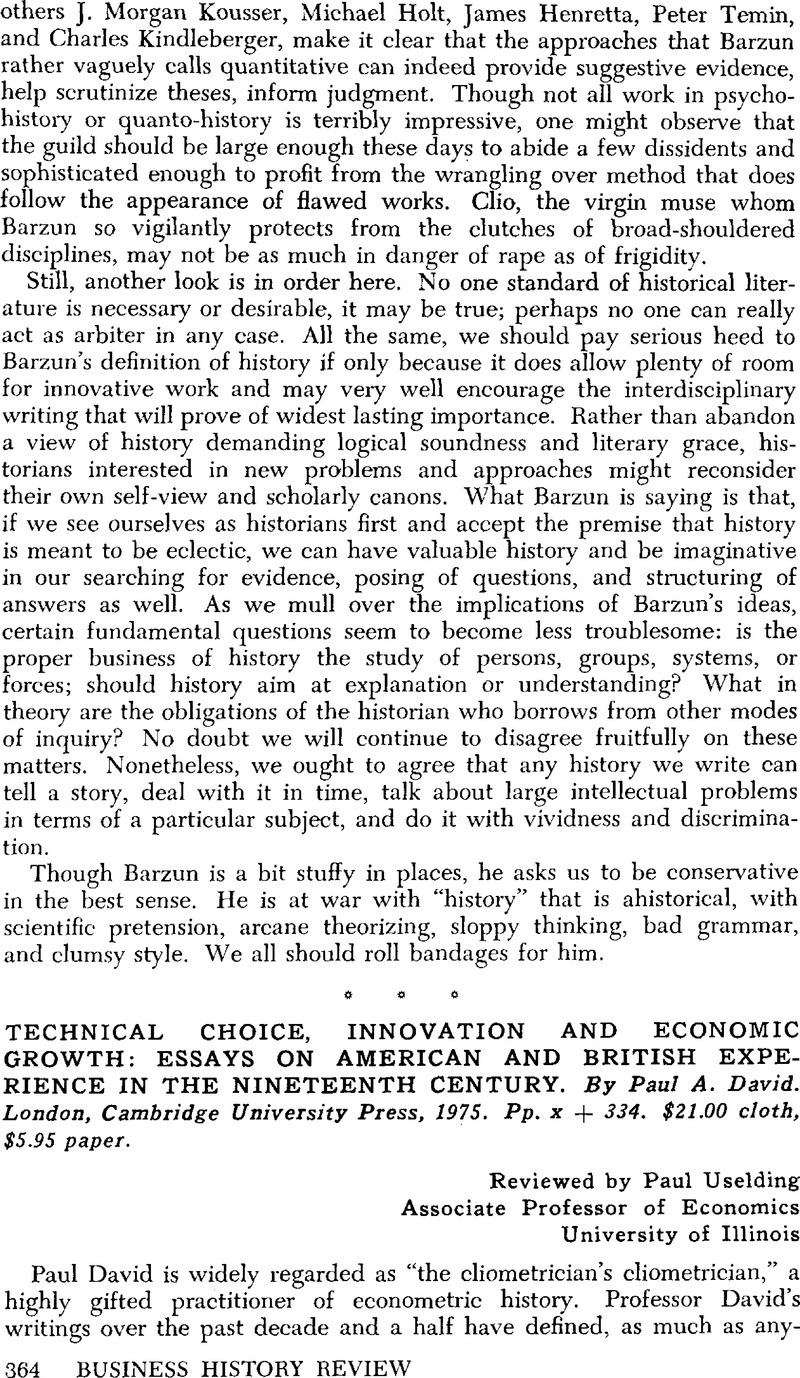 An Essay On Science Technical Choice Innovation And Economic Growth Essays On American And  British Experience In The Nineteenth Century By Paul A David Example Of A Essay Paper also High School Vs College Essay Technical Choice Innovation And Economic Growth Essays On American  Locavore Synthesis Essay