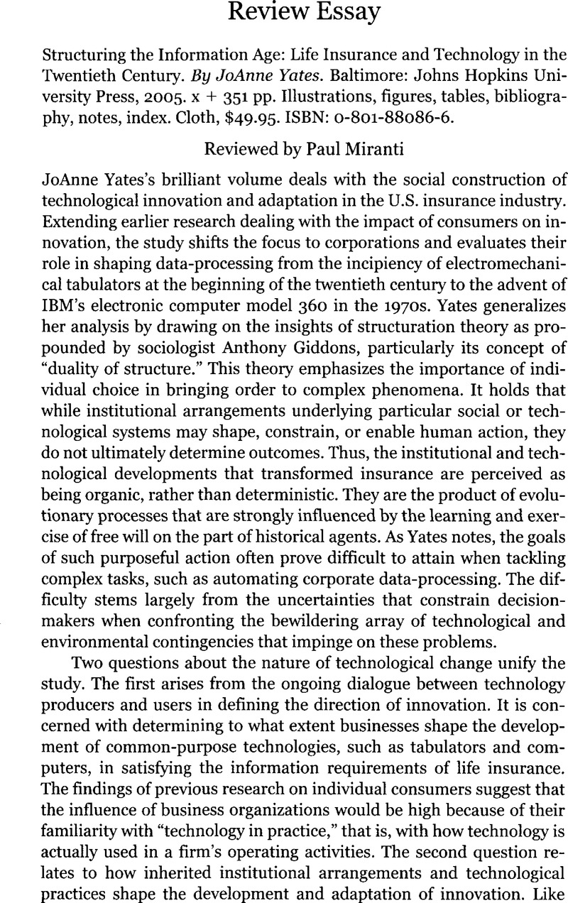 Essay For High School Application Examples Structuring The Information Age Life Insurance And Technology In The  Twentieth Century By Joanne Yates Baltimore Johns Hopkins University  Press  High School Essay Example also Paraphrasing Sentences Online Structuring The Information Age Life Insurance And Technology In  Bullying Essay Thesis