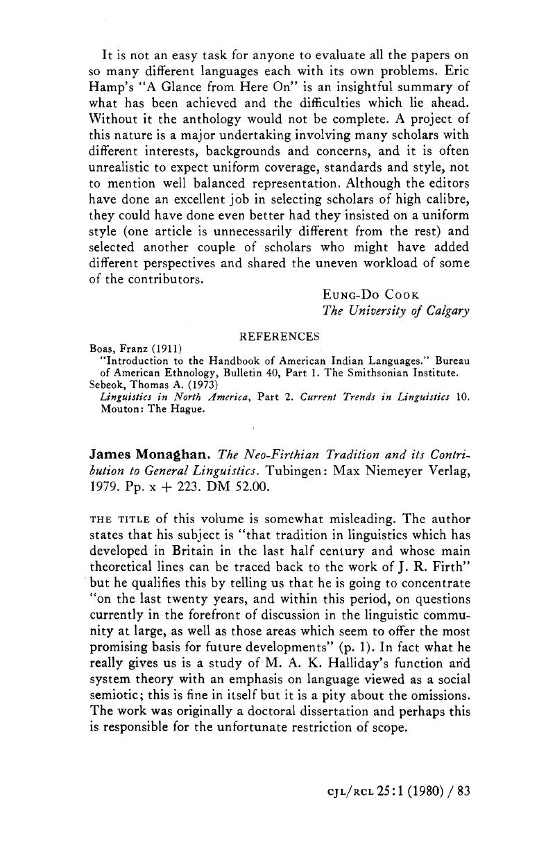 James Monaghan  The Neo-Firthian Tradition and its