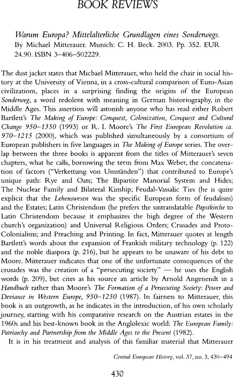 bartlett robert the making of europe The making of europe conquest, colonization and cultural change, 950–1350by bartlett robert pp xvi + 432 incl maps, figs, tables + plates.
