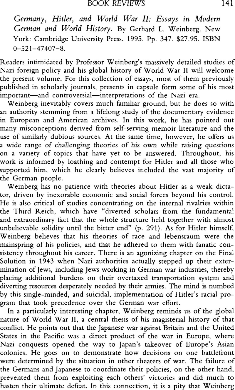 Examples Of Persuasive Essays For High School Germany Hitler And World War Ii Essays In Modern German And World  History By Gerhard L Weinberg New York Cambridge University Press   Pp  Photosynthesis Essay also Writing High School Essays Germany Hitler And World War Ii Essays In Modern German And World  Simple Essays In English