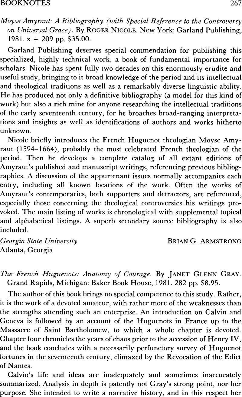 The French Huguenots: Anatomy of Courage. By Janet Glenn Gray. Grand ...