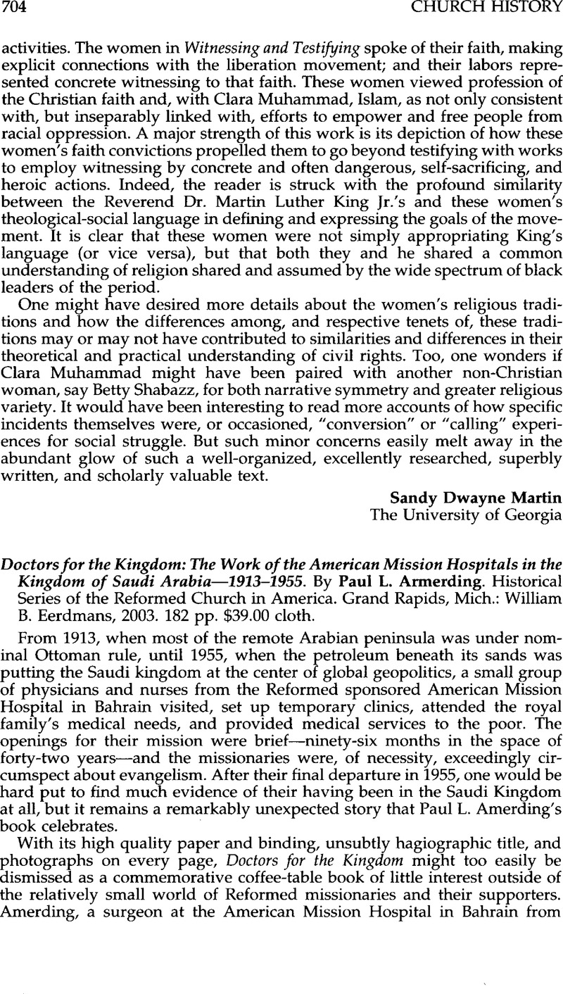 Doctors for the Kingdom: The Work of the American Mission Hospitals