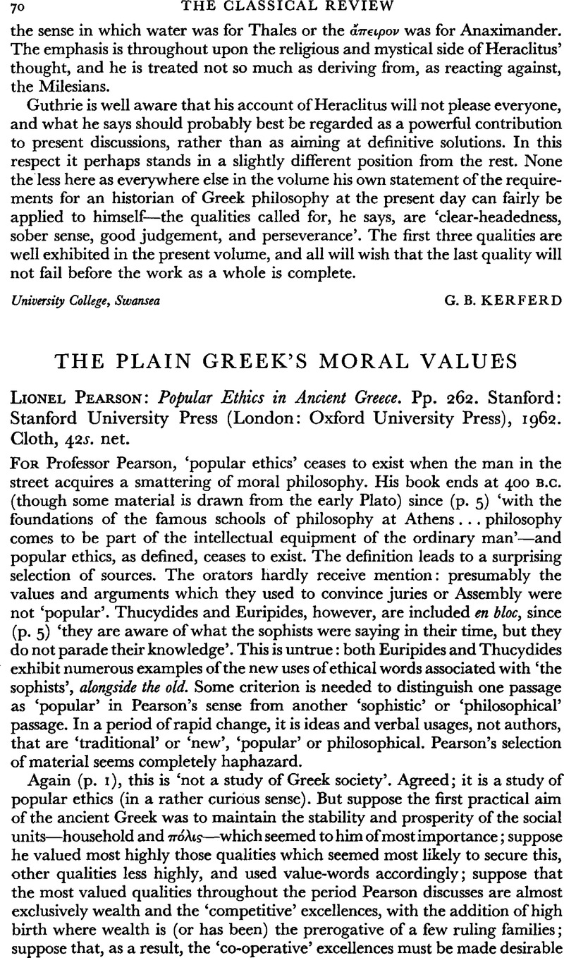 ancient greek values