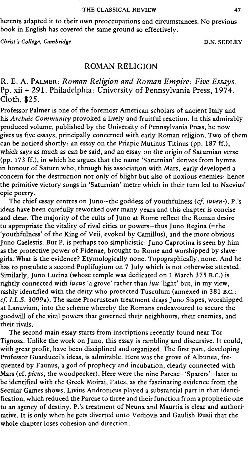 Roman religion and roman empire five essays cnc machine ny resume service tool