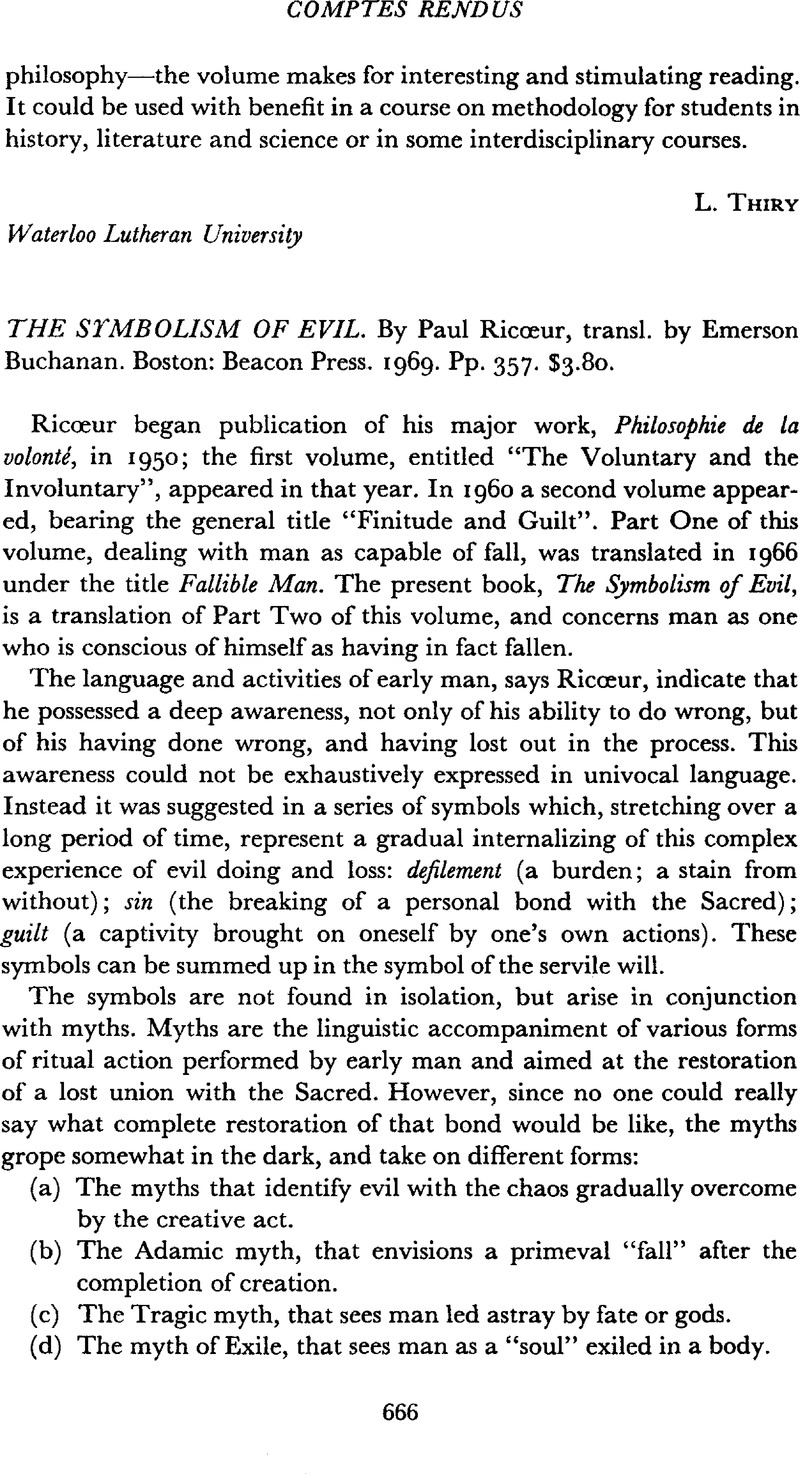 The symbolism of evil by ricur paul transl by buchanan emerson the symbolism of evil by ricur paul transl by buchanan emerson boston beacon press 1969 pp 357 380 buycottarizona Choice Image