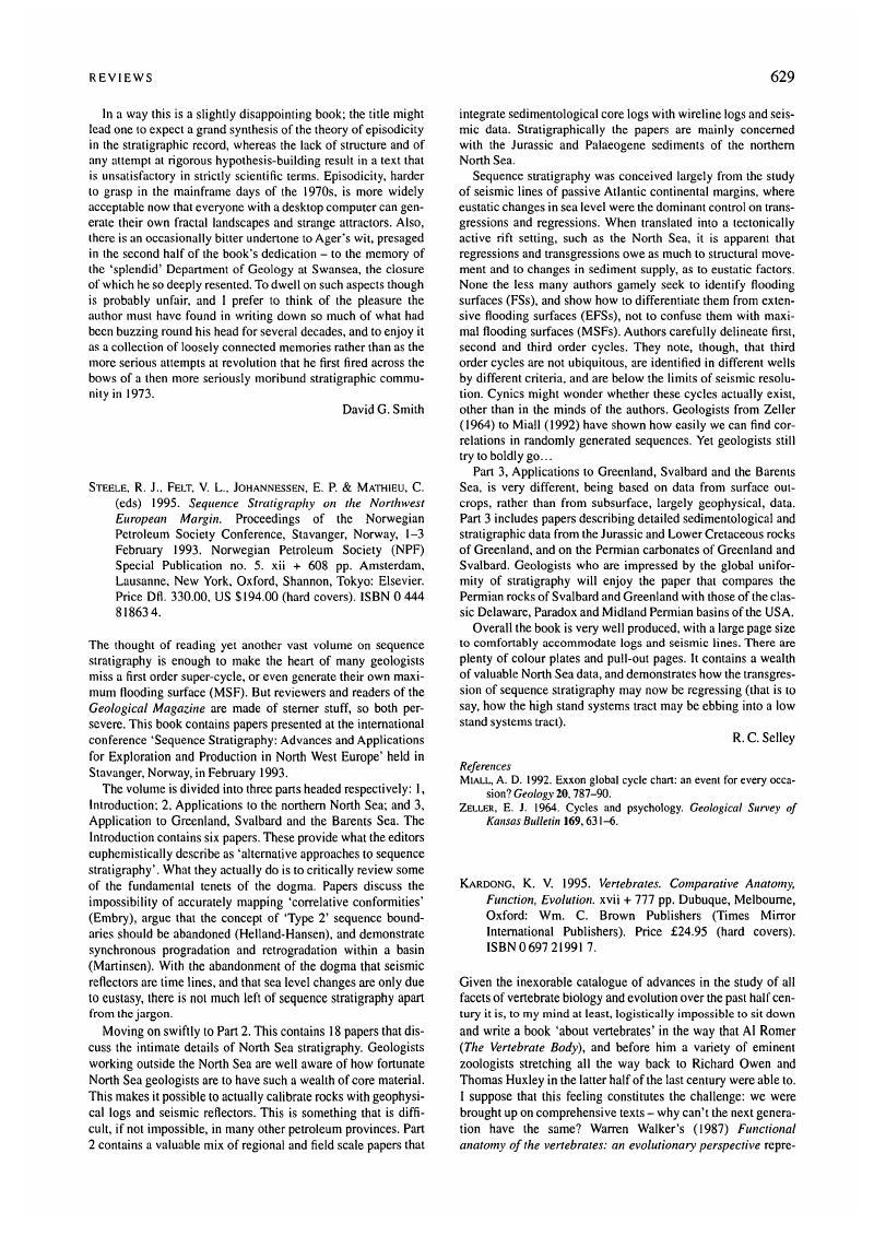 K. V. Kardong, 1995. Vertebrates. Comparative Anatomy, Function ...