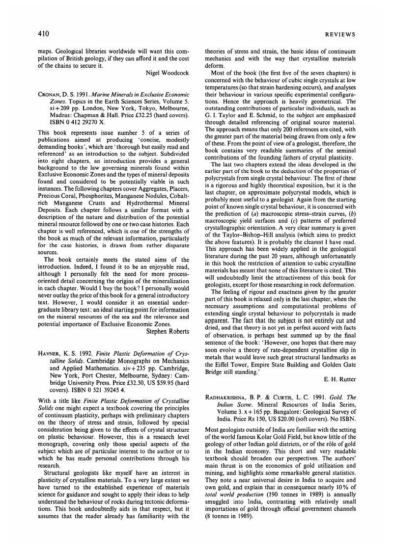 K S Havner 1992 Finite Plastic Deformation Of Crystalline Solids