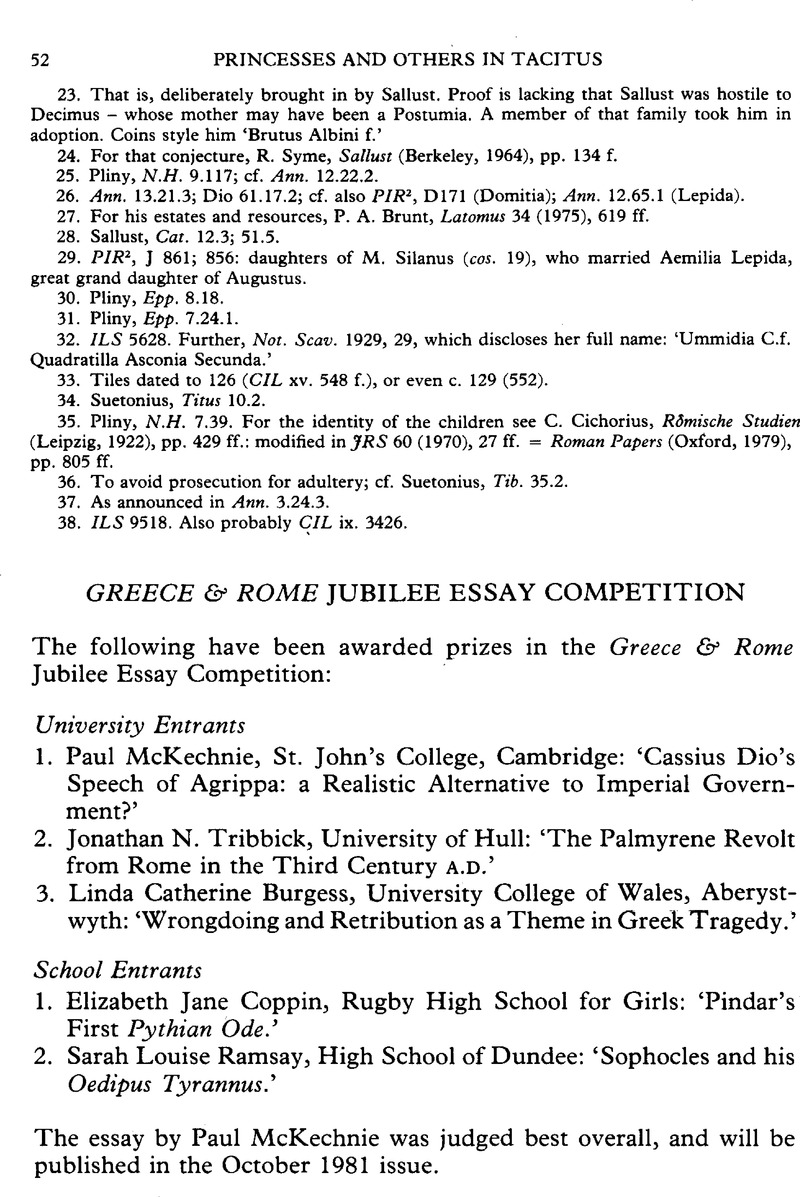 Greece  Rome Jubilee Essay Competition  Greece  Rome  Cambridge Core Copyright Purpose Of Thesis Statement In An Essay also How To Write A Synthesis Essay  Book Reports You Can Purchase Online