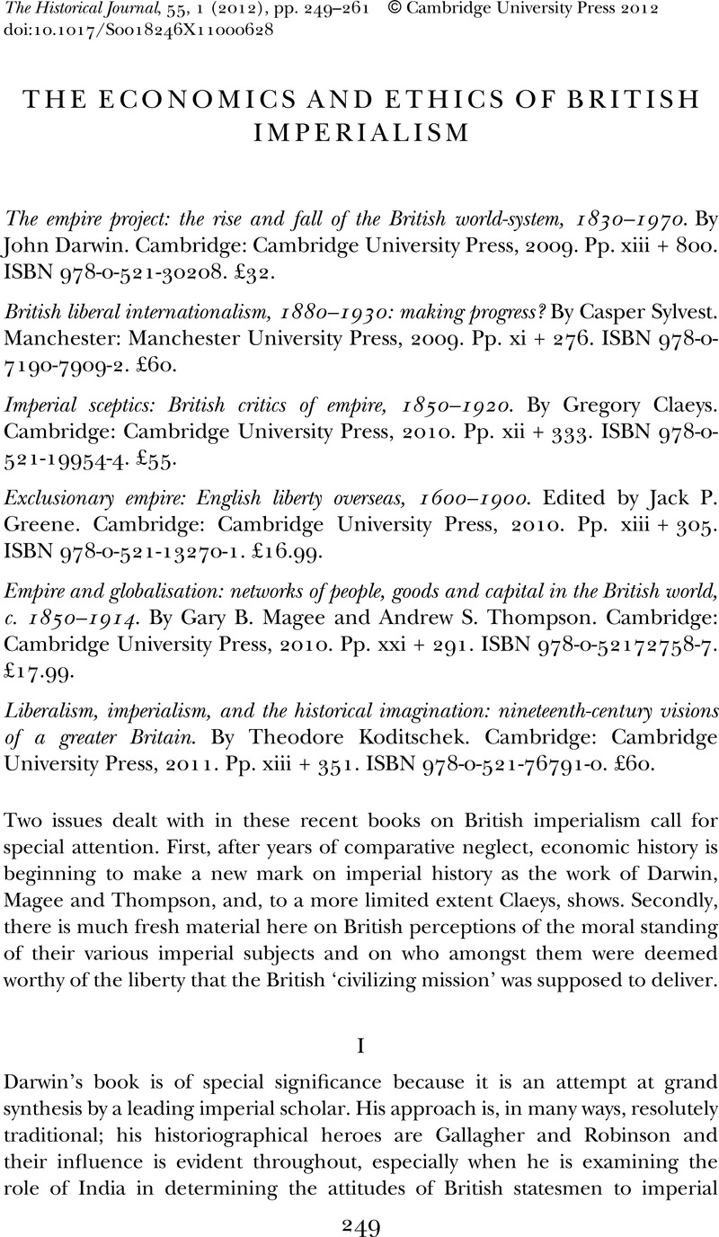 the economics and ethics of british imperialism the historical  the economics and ethics of british imperialism