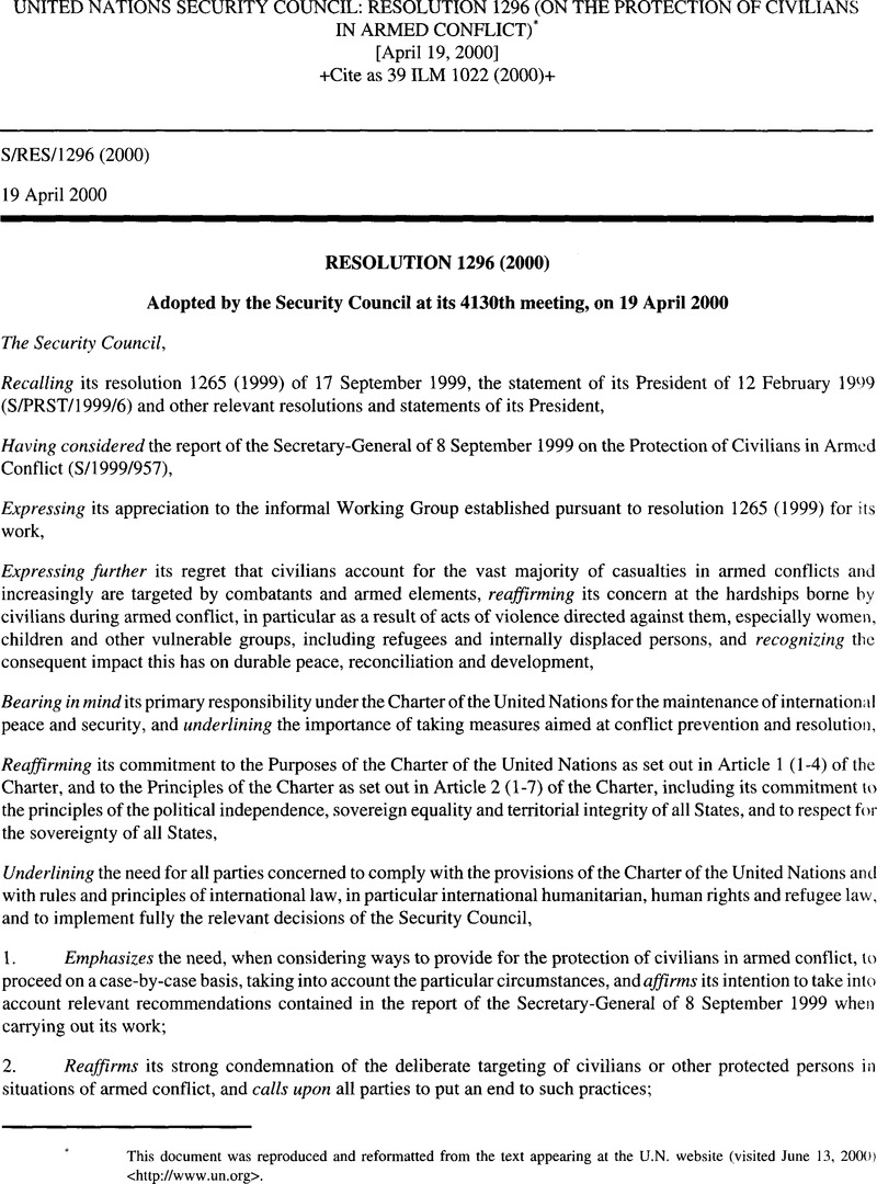 United nations security council resolution 1296 on the protection united nations security council resolution 1296 on the protection of civilians in armed conflict publicscrutiny Image collections