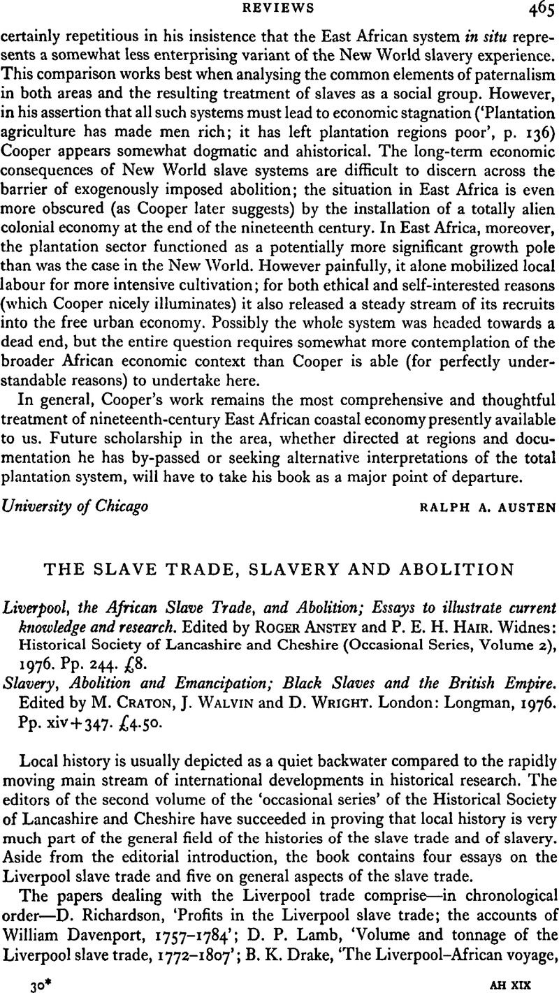 Research paper on slavery
