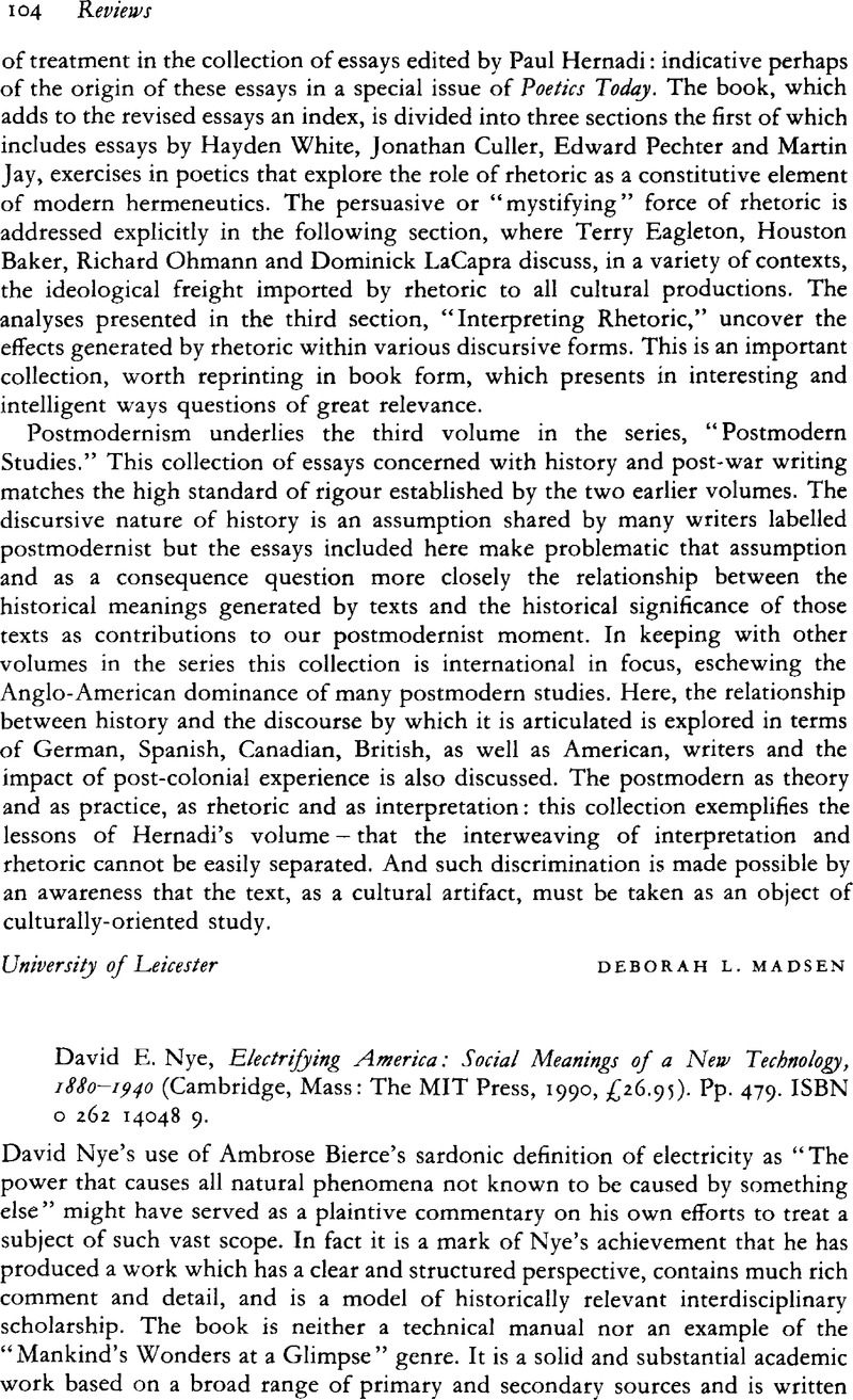 1880-1940 Social Meanings of a New Technology Electrifying America