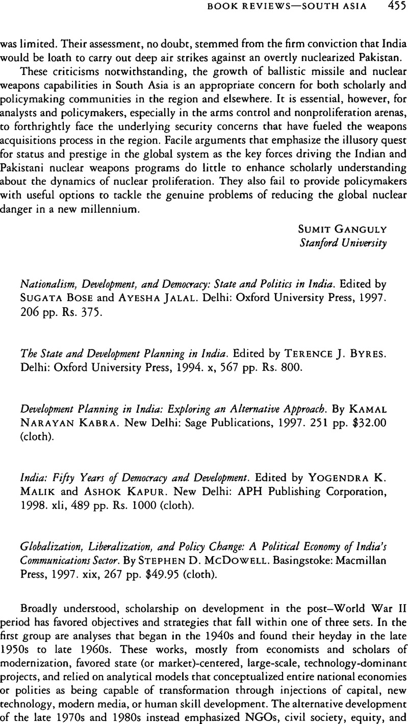 political democracy and economic development in india