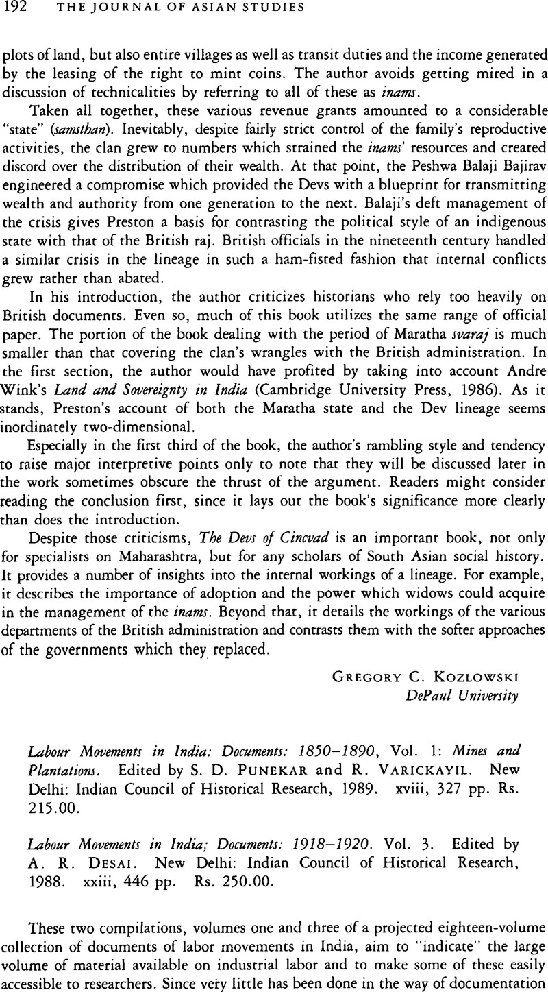 Labour Movements in India: Documents: 1850–1890, Vol  1