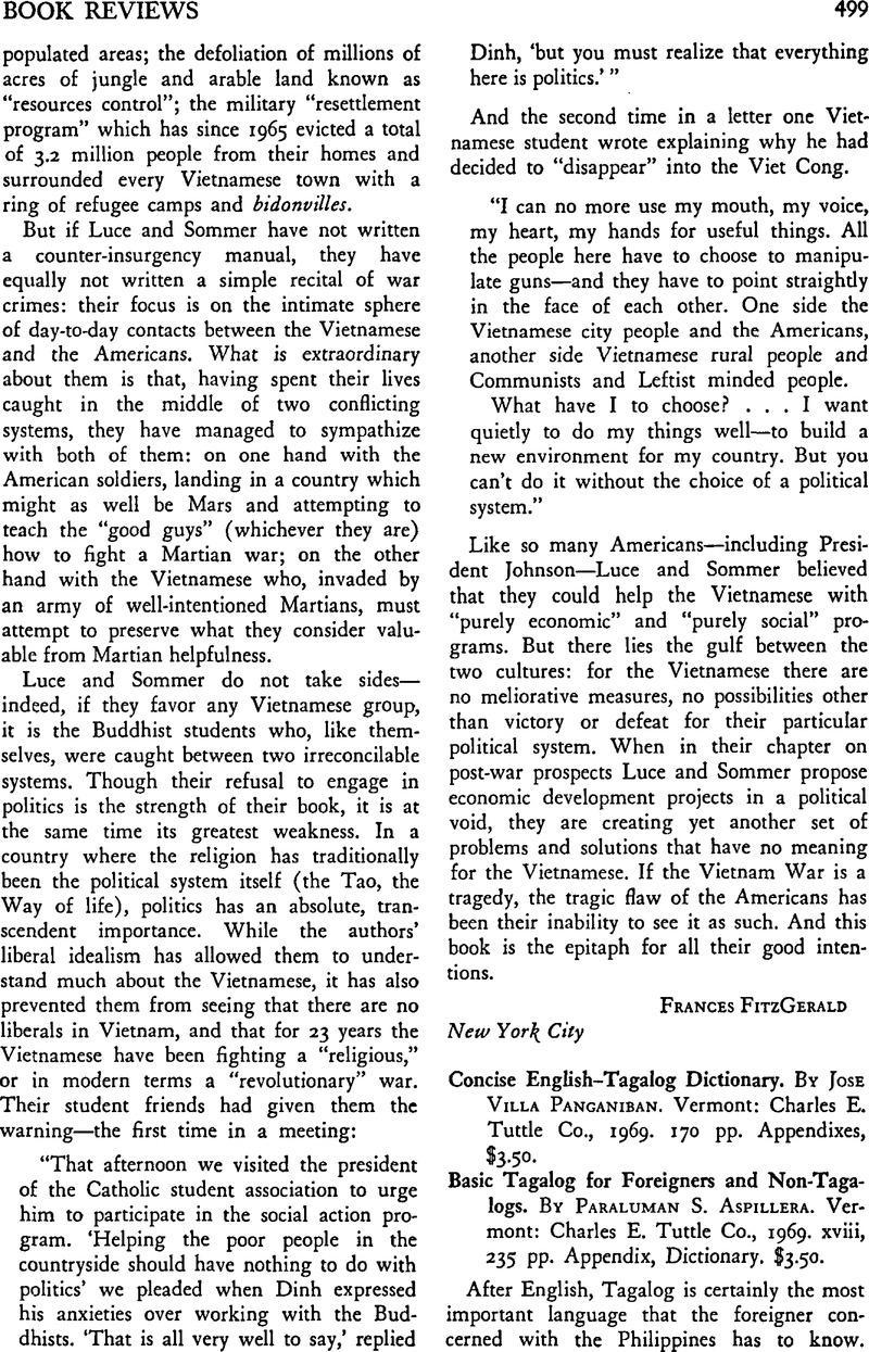 Concise English–Tagalog Dictionary  By Jose Villa Panganiban