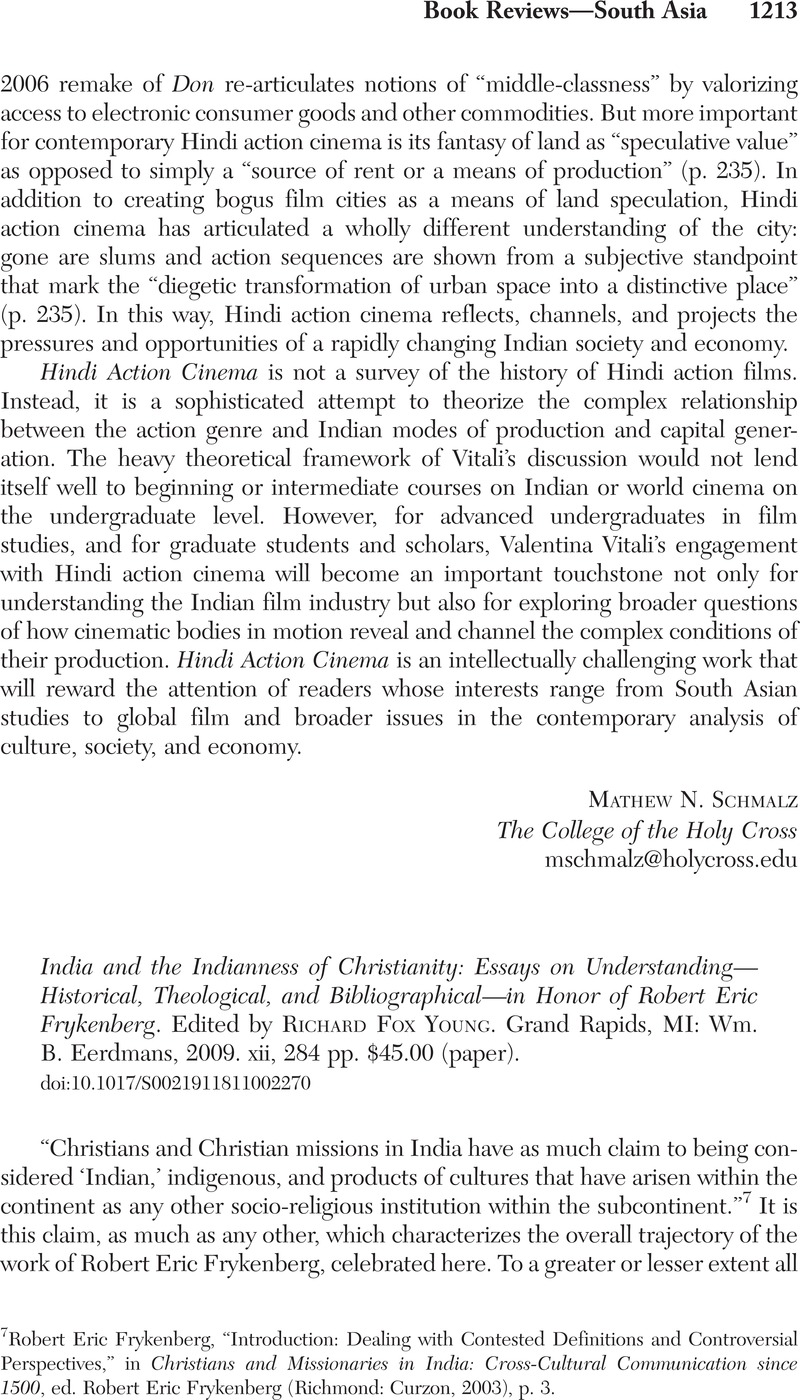 India And The Indianness Of Christianity Essays On Understanding  India And The Indianness Of Christianity Essays On  Understandinghistorical Theological And Bibliographicalin Honor Of  Robert Eric Frykenberg
